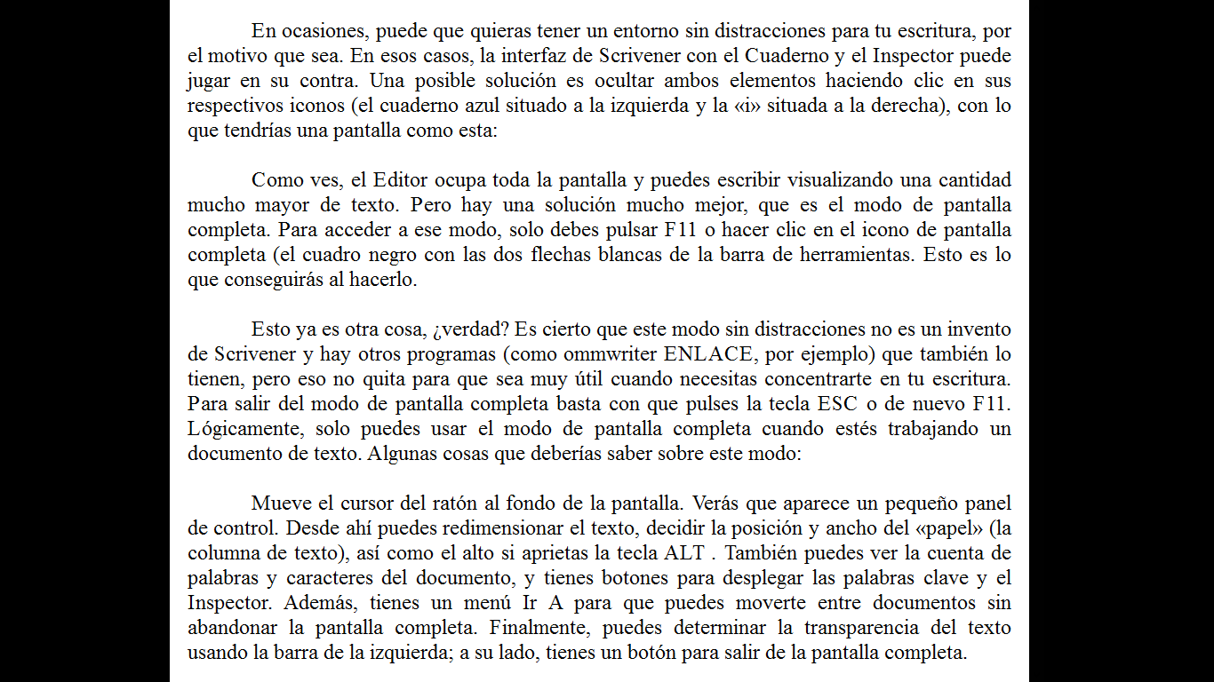 Manual de Scrivener (XII). La pantalla completa – Miguel Ángel ...