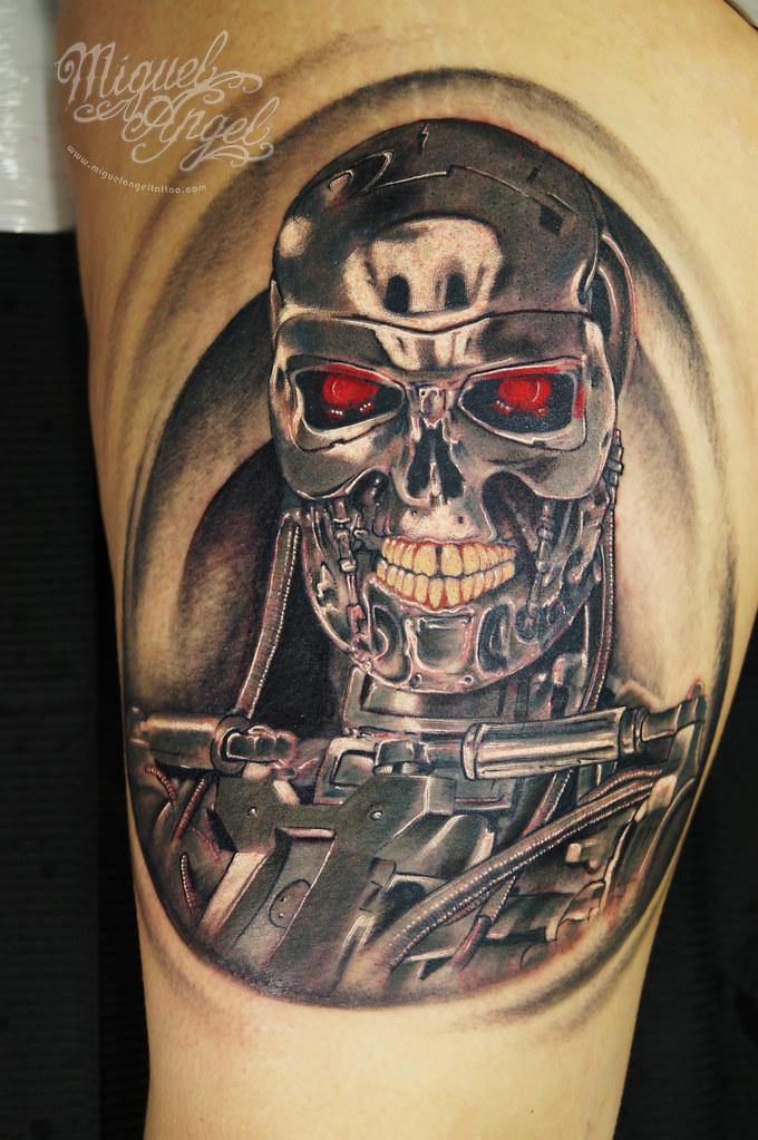 Terminator© tattoo   Miguel Angel Custom Tattoo Artist www ...  Terminator© ta...