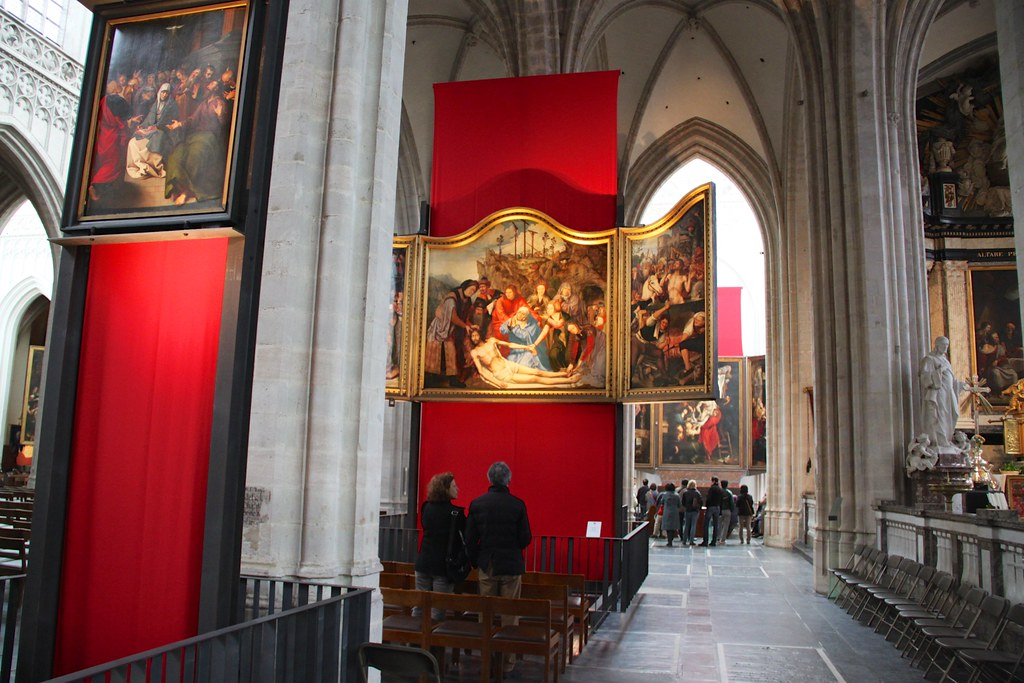 Antwerp Cathedral Art | Quentin Massys - Lamentation of ...