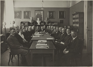 J. A. Lindh: Meeting of teachers | by Aalto University Library and Archive Commons