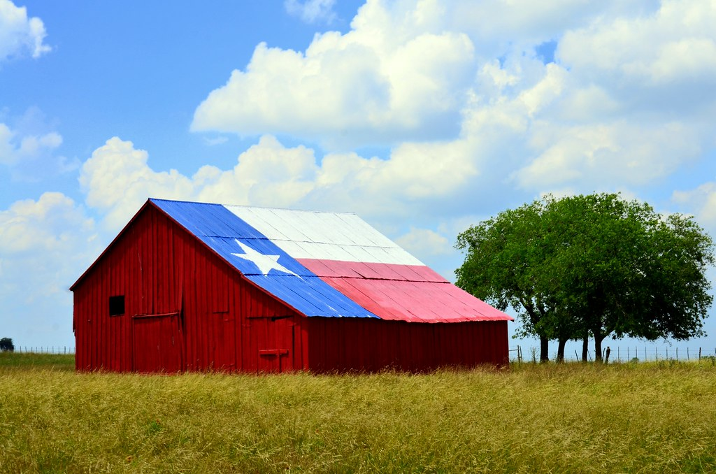 Texas Flag Barn It Is Quite Common In Texas For Our