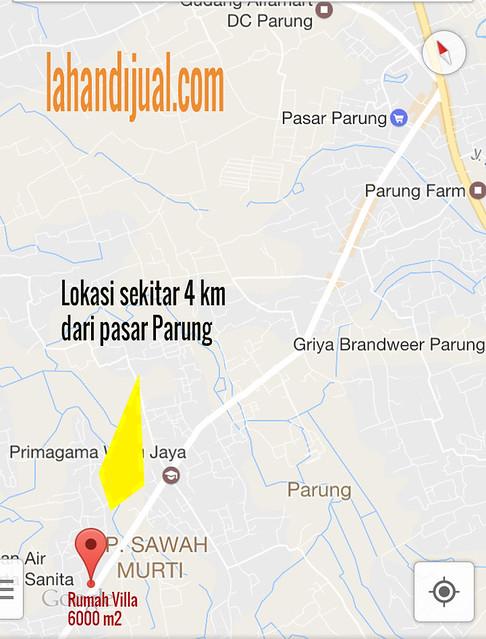 Peta Rumah Villa Parung 6000 m2