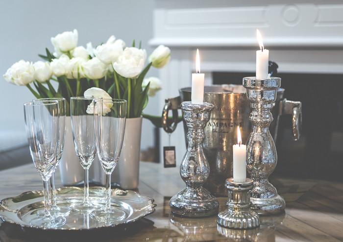 lugnet life &  living sisustusliike hopeinen shampanjamalja