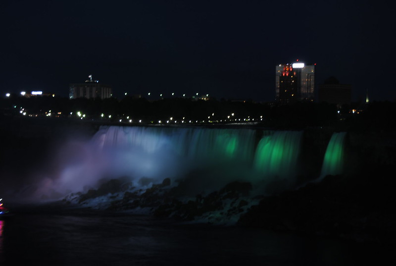 American Falls and Bridal Veil Falls Illuminated