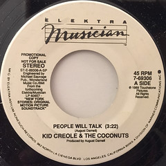 KID CLEOLE & THE COCONUTS:PEOPLE WILL TALK(LABEL SIDE-B)