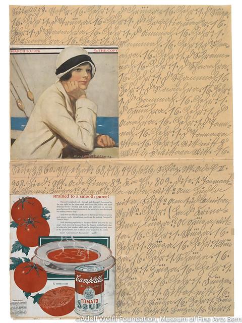 《無題(キャンベル・トマト・スープ)》(1929年)ベルン美術館 アドルフ・ヴェルフリ財団蔵