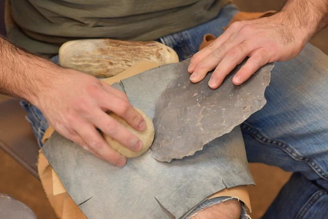 Kent State archaeologist explains innovation of 'fluting' ancient stone weaponry 33471359420_9fd3435d4d_z