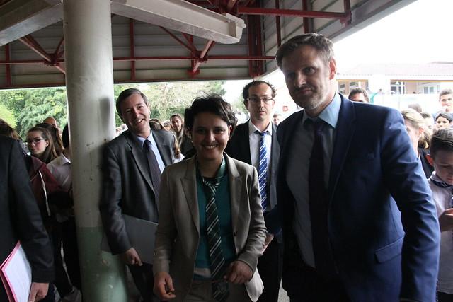 Najat Vallaud-Belkacem au collège Daniel Argote à Orthez: un déplacement placé sous le signe de l'innovation et du numérique