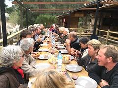 Le repas des 80 ans de Serge au Parc-Aventure