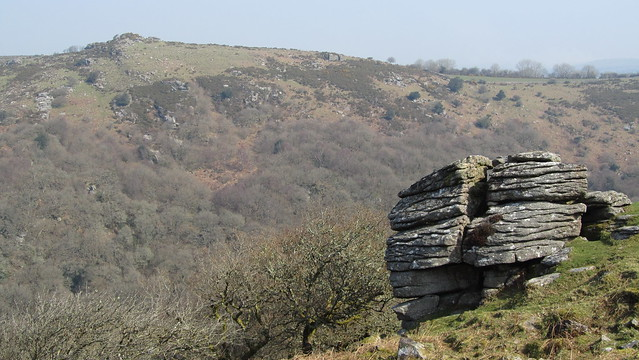 North Tor, with Mel Tor in the distance.