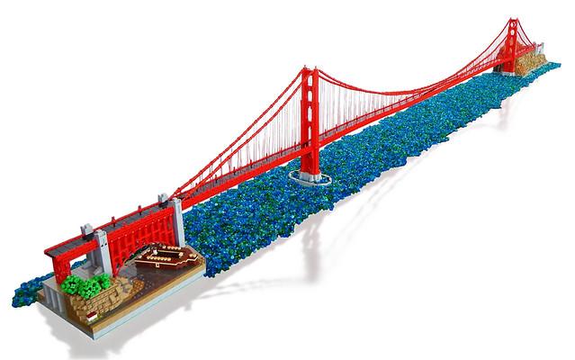12 Foot Long Lego Golden Gate Bridge Is Realistically