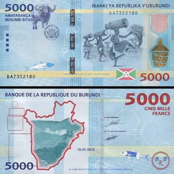 5000 Frankov Burundi 2015, P53