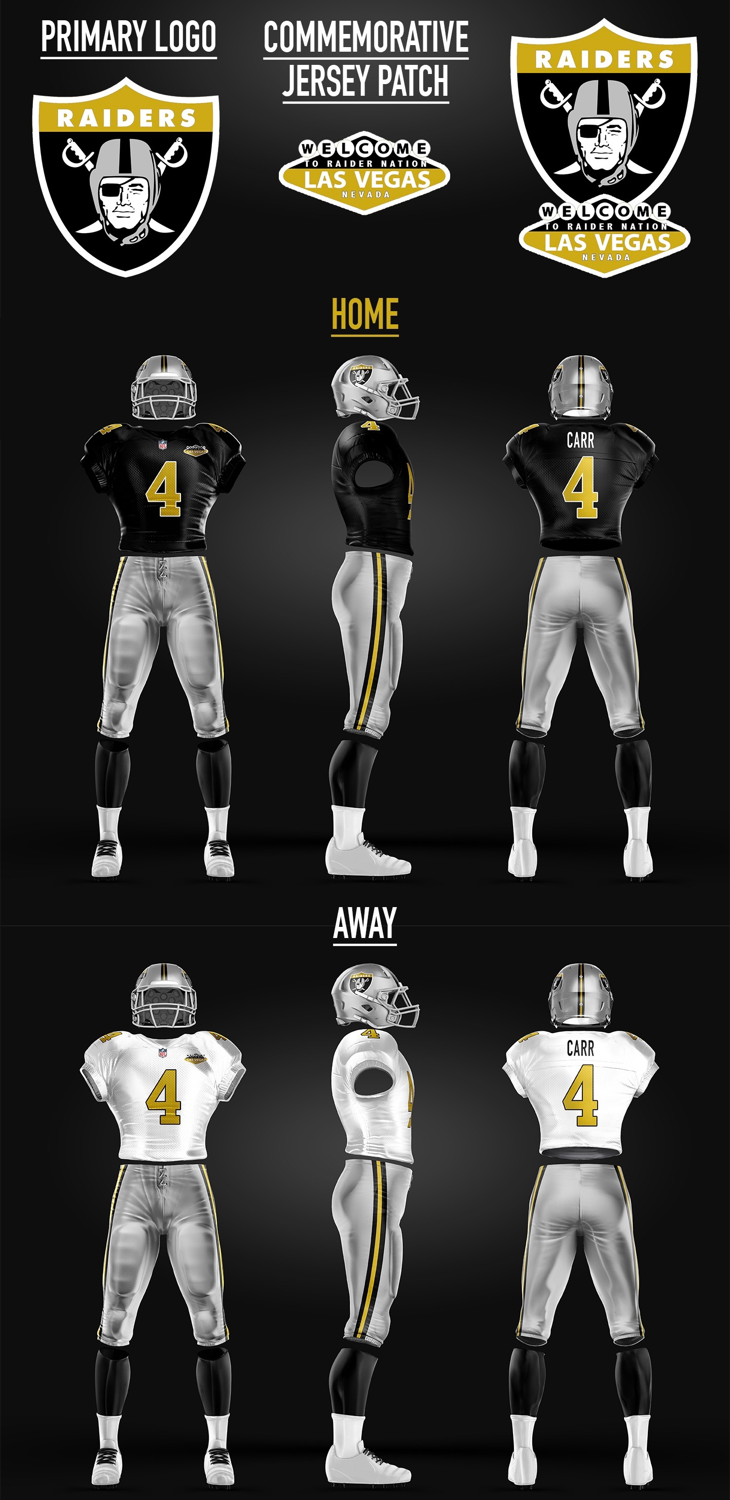 Uni Watch presents the best fan-designed Raiders uniforms