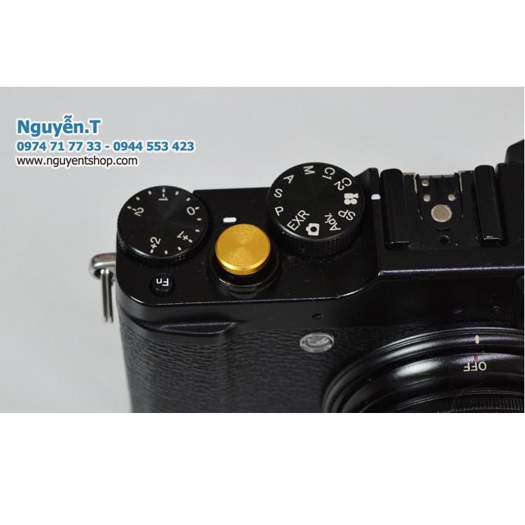 Nút bấm nhôm Fujifilm shutter button Gold edition bằng