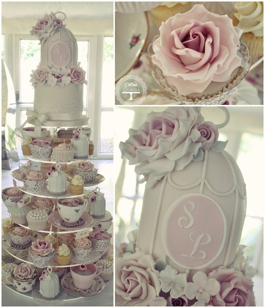 afternoon tea wedding cake quot afternoon tea quot wedding cake delivered to moxhull 10626