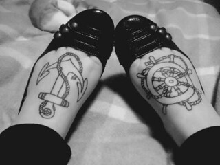 Outline Rope Anchor N Ship Wheel Tattoo Ideas On Feet 071 Flickr