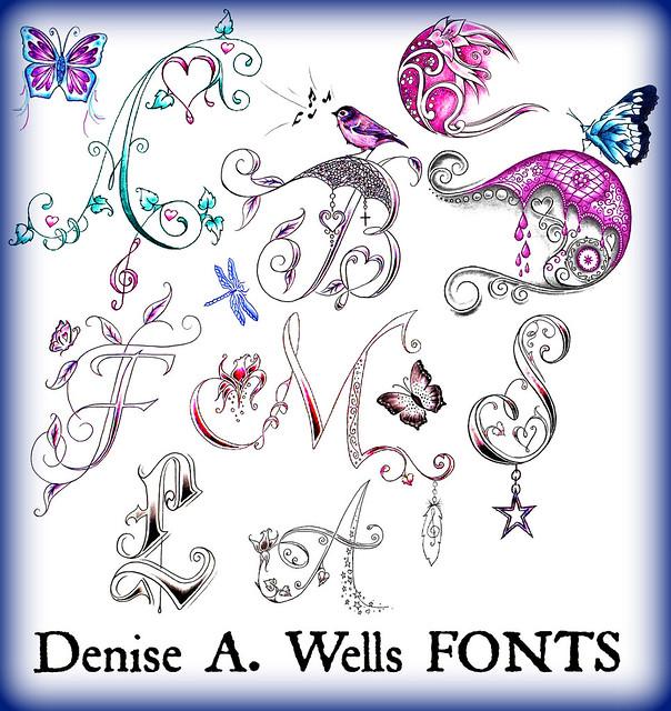 letter alphabet fonts by denise a wells flickr photo sharing. Black Bedroom Furniture Sets. Home Design Ideas