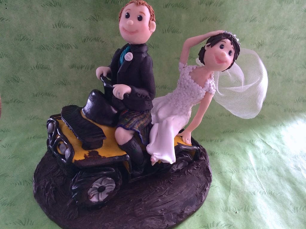 Polymer clay wedding cake topper