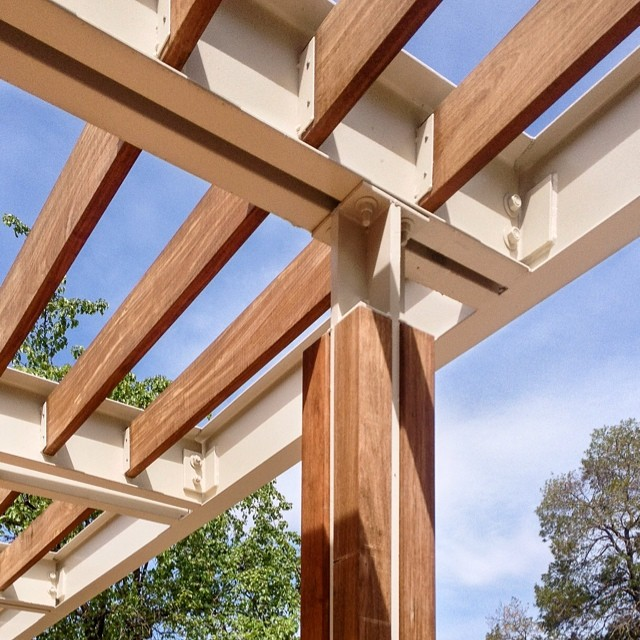 Shade canopy detail ucdavis university california d for Steel shade structure design