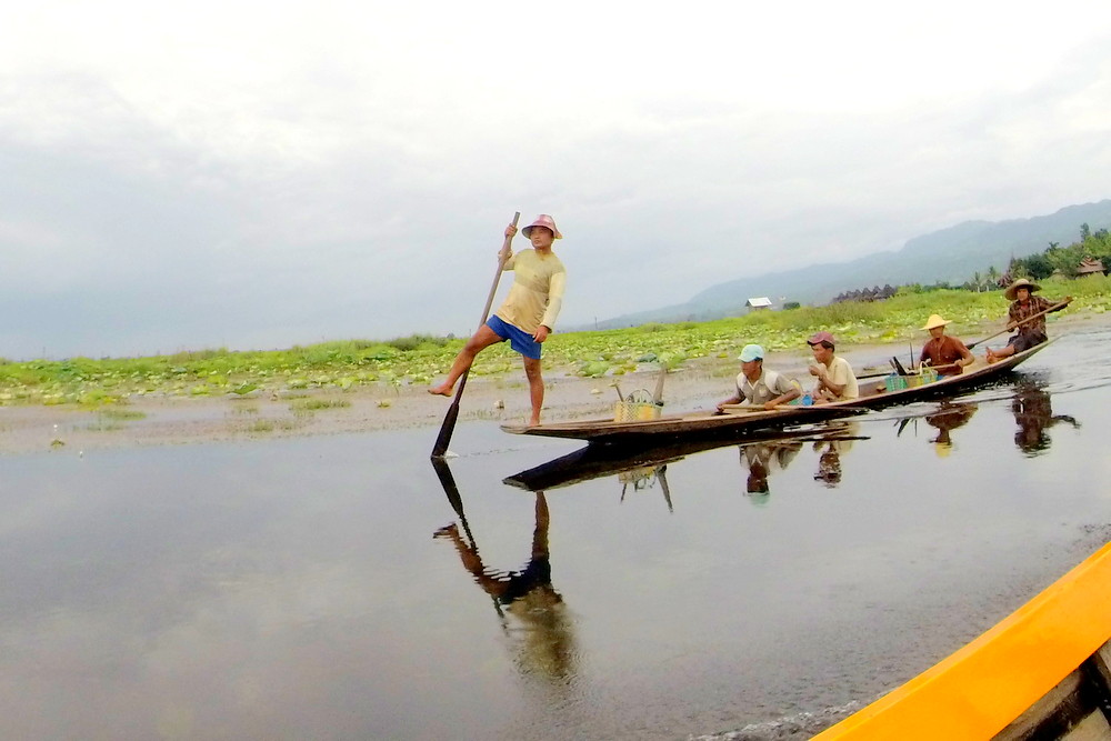 Oarsmen of Inle Lake