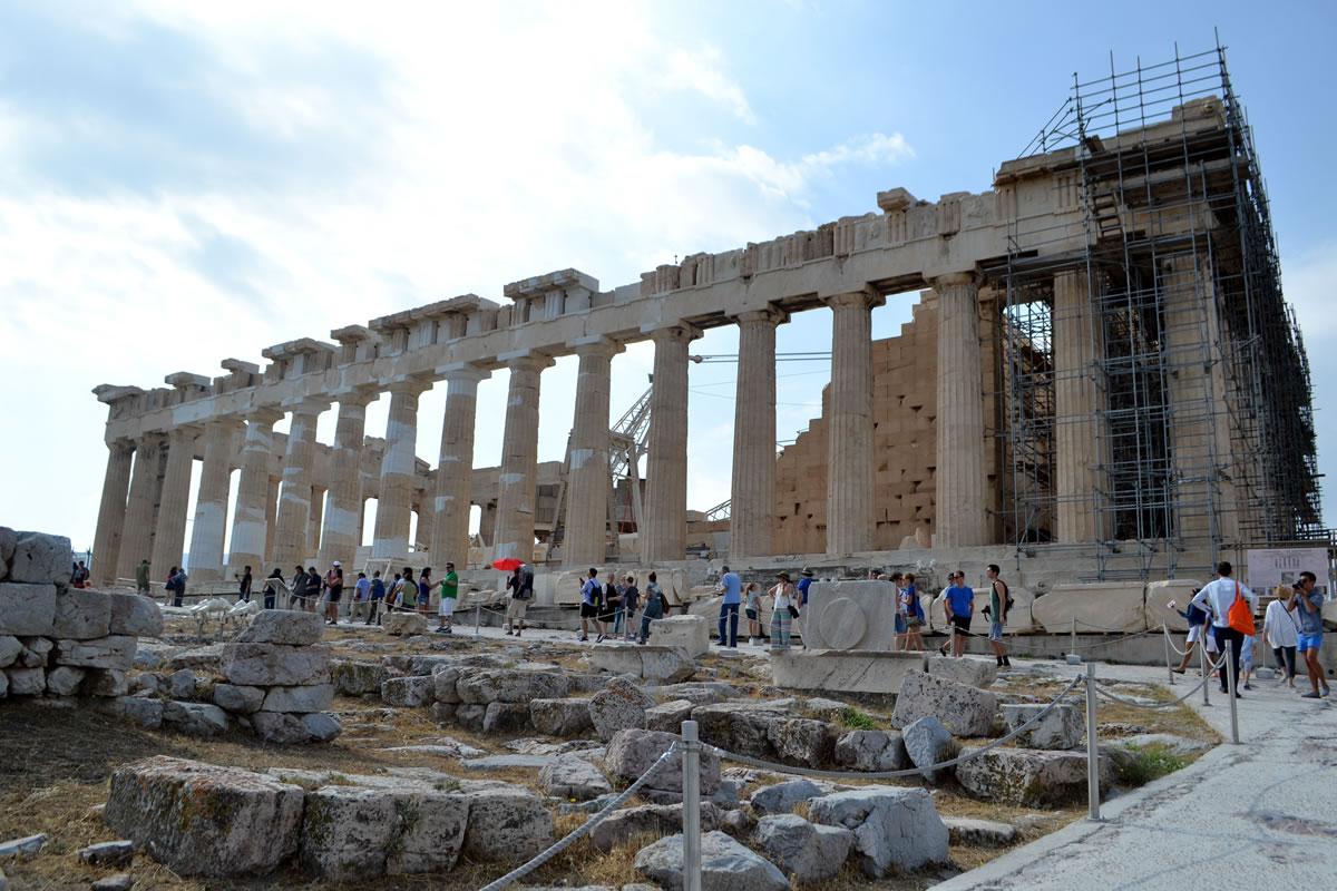 El mayor templo clásico, la Acrópolis
