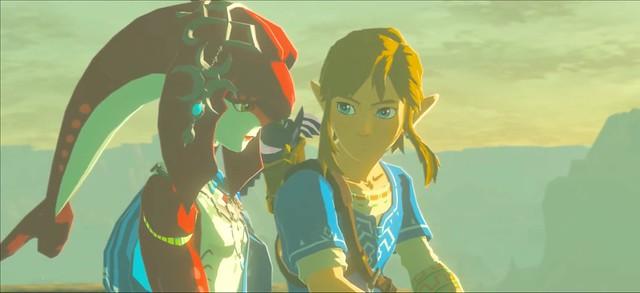 Legend of Zelda Breath of the Wild - Link and Mipha
