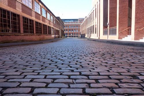 Birmingham - cobbled empty street