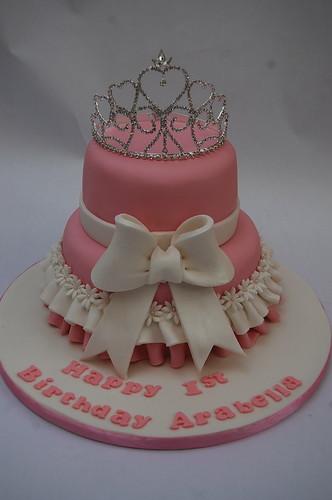 Phenomenal Two Tiered Tiara Cake Beautiful Birthday Cakes Funny Birthday Cards Online Amentibdeldamsfinfo
