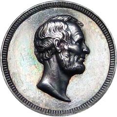 Abraham Lincoln Broken Column Medal obverse