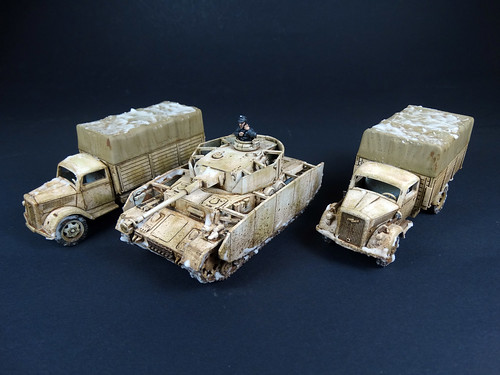Bolt Action - German Winter Opel Blitz & Panzer IV
