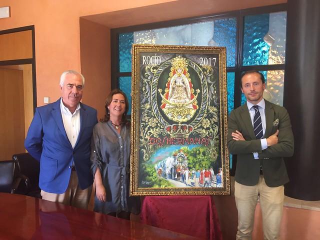 Presentación del cartel de la Romería del Rocío 2017 de Javier Aguilar
