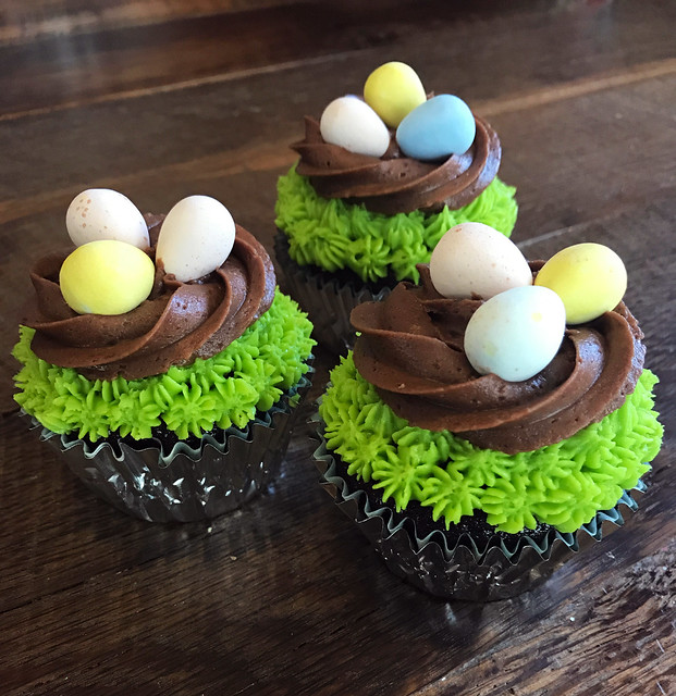 Eggs in a nest cupcakes, I guess