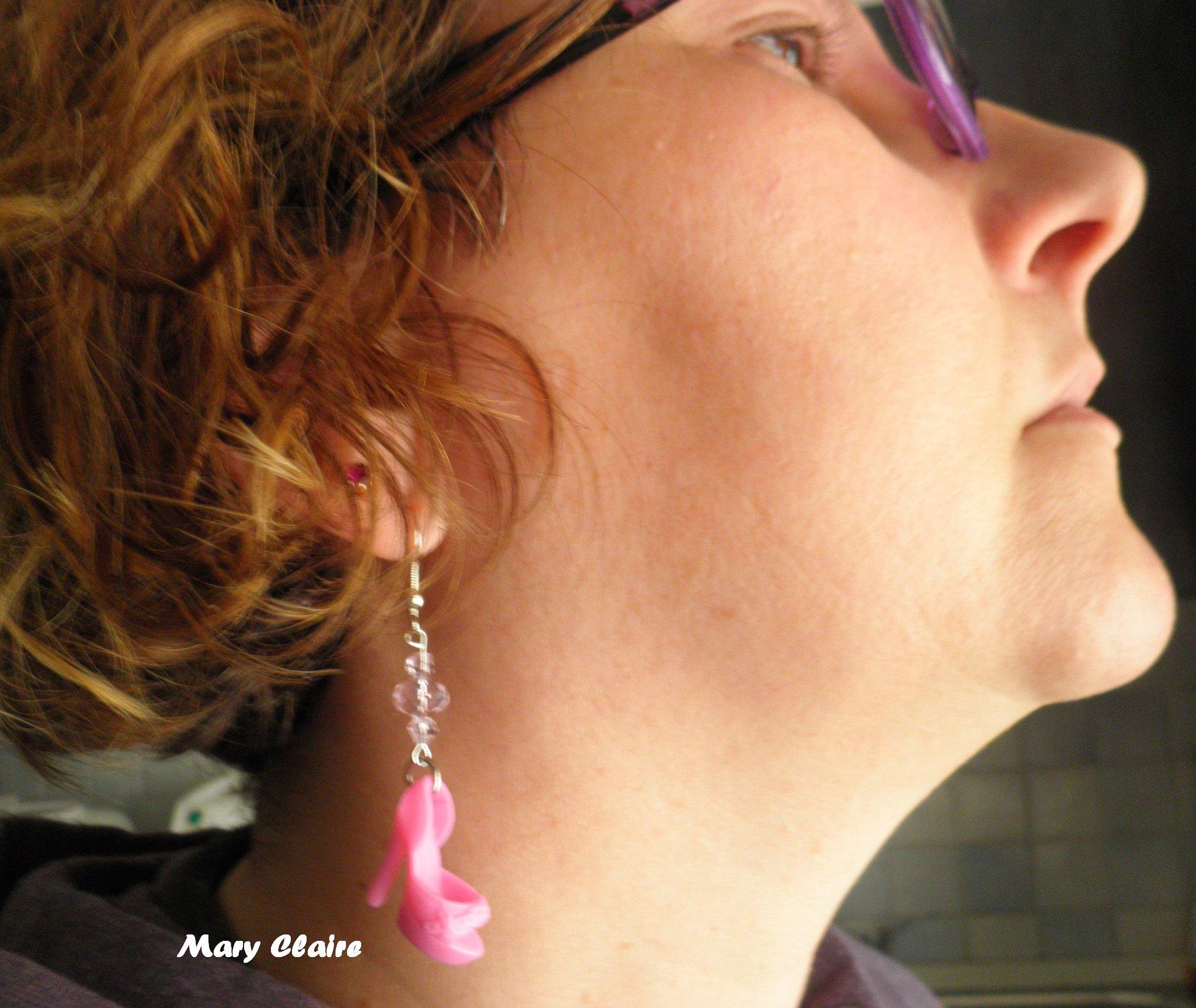 orecchini con scarpe rosa