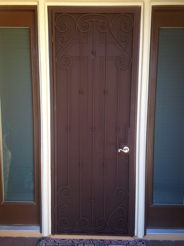 Custom Security Screen Door Ar Iron Llc Flickr