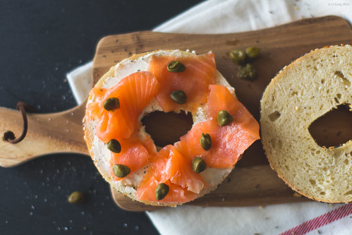 Bagel with smoked salmon and cream cheese | by ljology