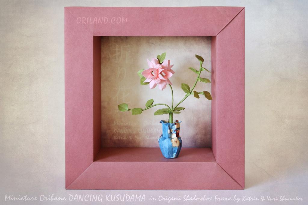 Mini Oribana \'Dancing Kusudama\' In Origami Shadowbox Frame… | Flickr