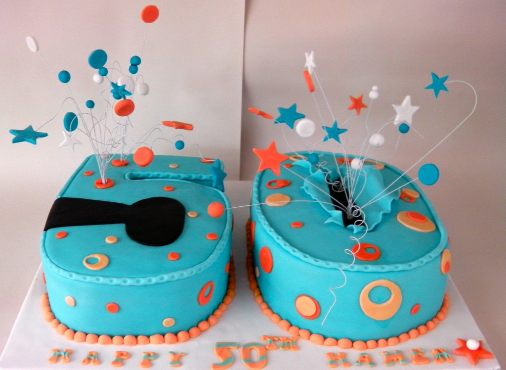 50 shaped Birthday Cake Mandys Homemade Cakes Flickr