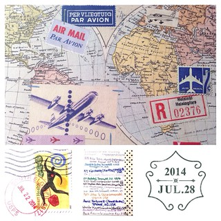 July 28 2014; Traveling Postcard via Swap-Bot! | by iheartmail