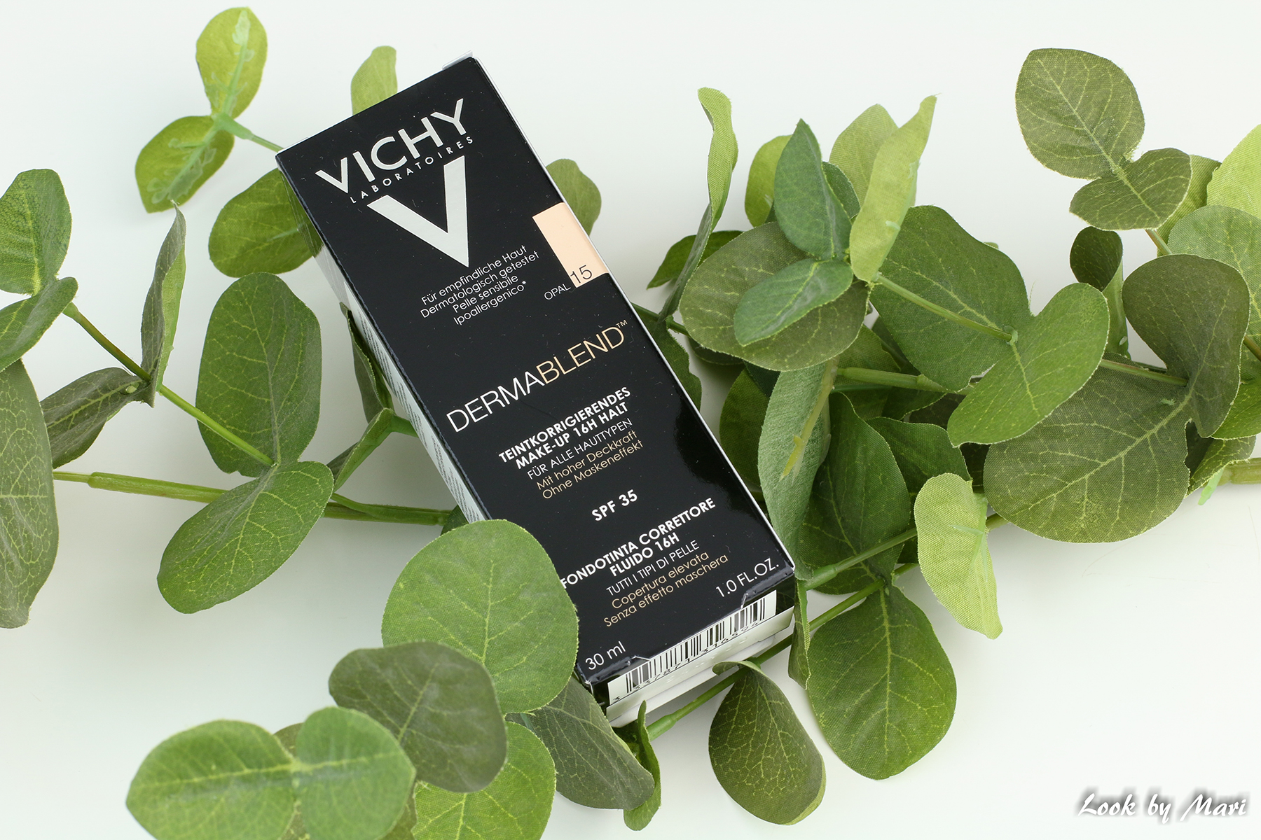5 vichy dermablend foundation 15 opal swatch väri sävy review