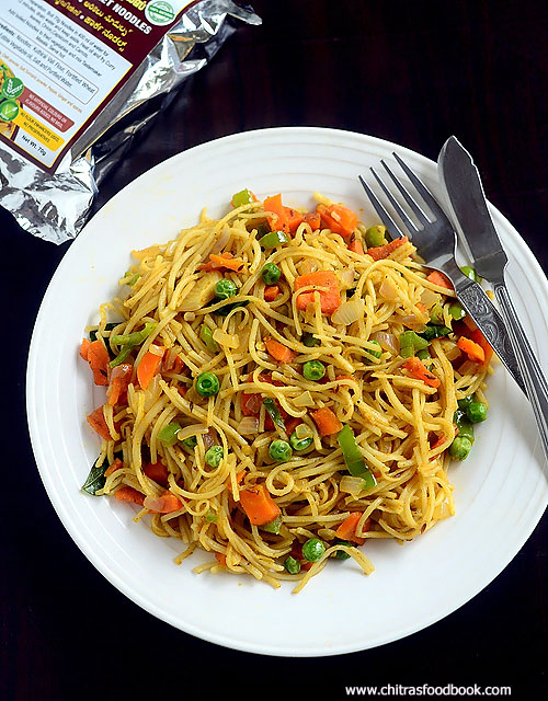 veg millet noodles recipe