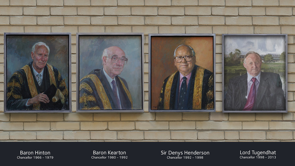 Painted portraits of the former chancellors of the University of Bath
