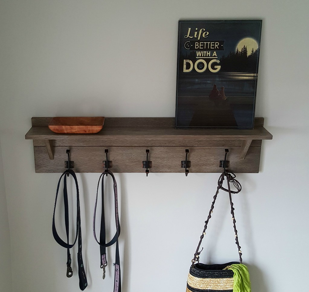 $25 Wall-mounted Coat Rack with Shelf