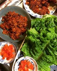 """kochujang  """"sausage""""❤︎  #kochujang #sanchu #kimchee #osaka #japan #コチュジャン #サンチュ #キムチ #大阪"""