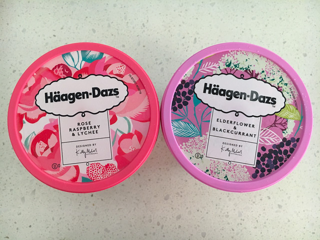 Haagen-Dazs - Rose Raspberry and Lychee and Elderflower and Blackcurrant - Top