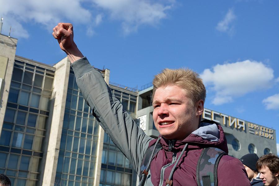 Выкрикивали лозунги против Медведева