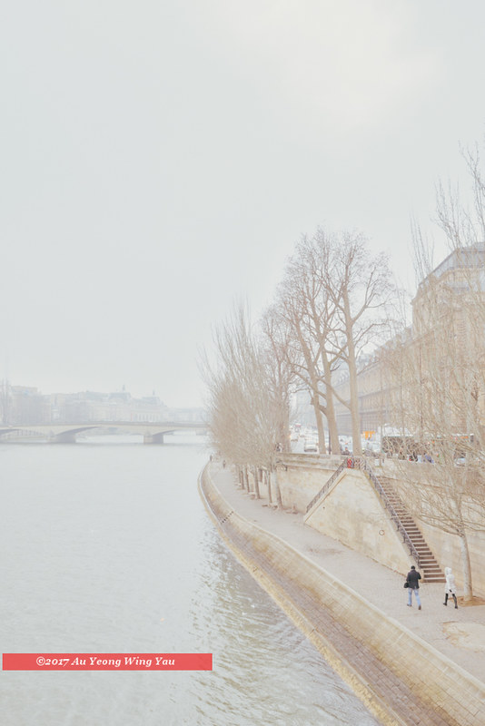 Paris 2017: Winter Along River Seine In The City