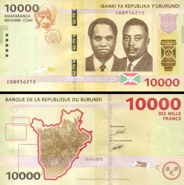 10000 Frankov Burundi 2015, P54
