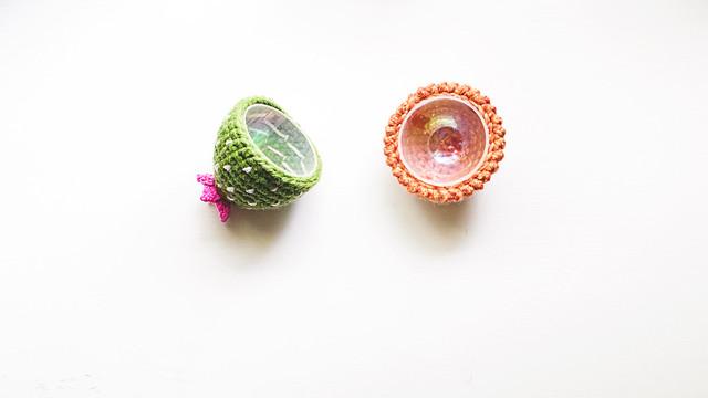 Crochet: Cactus Egg, open