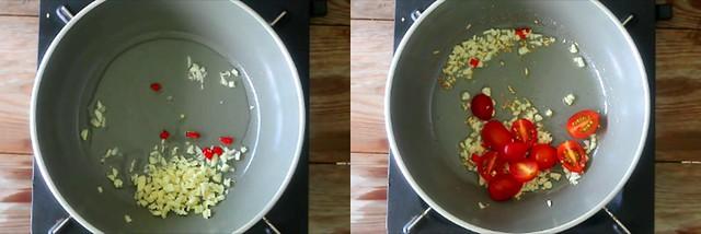 spinach tomato pasta 1
