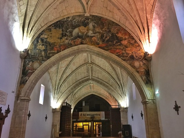 Interior de la iglesia de San Sebastián en Munera (Albacete)